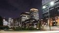東京トワイライト 丸の内オフィス街 流れるヘッドライト タイムラプス フィックス 44393385