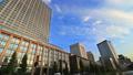 東京トワイライト 丸の内オフィス街 夕暮れ タイムラプス ズームイン 44393539