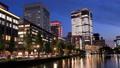 東京トワイライト 丸の内オフィス街 夕暮れからライトアップ タイムラプス フィックス 44393989