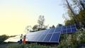 Solar panel installation in Indian village 44406536