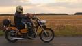 dog, man, motorcycle 44413594