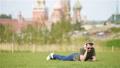 Happy young urban man enjoy his break in the city 44415753