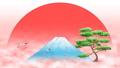 덩굴의 무리 비상 루프 복사 공간 배경 소재 일출 후지산 소나무 44463788