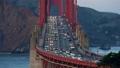 Illuminated traffic on Golden Gate Bridge in San Francisco 44483729