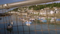 Camera rises to reveal harbour of Mousehole 44489294
