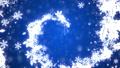 クリスマス ブルー背景にリースの螺旋 44489548