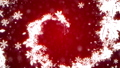 クリスマス レッド背景にリースの螺旋 44489549