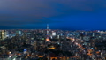 8K · Tokyo night view · timelapse · dynamic cityscape from Twilight to night view 8K RAW to FI 44522473
