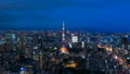 8K · Tokyo night view · time-lapse · dynamic cityscape from Twilight to night view 8K from RAW 44522475