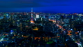 8K · Tokyo night view · time-lapse · dynamic big city Twilight to night view 8K RAW to Karagre 44522477
