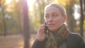 autumn, woman, telephone 44598095