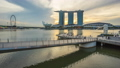 Time lapse Singapore Merlion and Marina Bay Sands 44618818