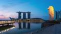 Singapore city skyline at night time lapse 44618822