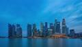 Timelapse of Singapore city skyline at night 44618825