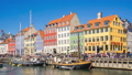 Nyhavn with crowd of tourist in Copenhagen Denmark 44618827