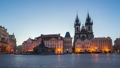 Night to day time lapse video of Prague old town 44653114