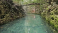 Blue river in Xcaret, Mexico 44707899
