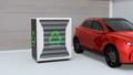 EV使用済みのバッテリー再利用リユースシステムで電気自動車や家に電力供給するコンセプト 44764639