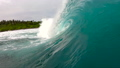 Green surfing wave breaking slow motion 44858544