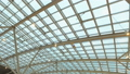 glass roof of a modern building. Overlapping roof of the building 44896105