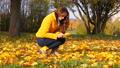 woman, park, autumn 44910327