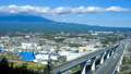 Mt. Fuji and the Shin-Tomei Expressway, time-lapse narrow 44943770
