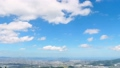 Urban landscape Fukuoka city Scenery from the mountain observatory of rice Time lapse 45002646