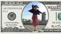 Woman is dancing feeling happy in 100 dollar bill 45050357