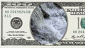 Waterfall in frame of 100 dollar bill 45050374