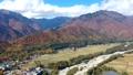 北アルプス爺ヶ岳ふもとの里を空撮タイムラプス 45066973