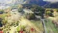 長野県 開田高原の牧場を空撮 45066975
