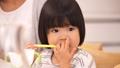 歯磨きをする3歳の女の子 45160026
