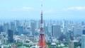 8K ·โตเกียว·ทิวทัศน์·มิถุนายน·ต้นฤดูร้อนเมฆและแสงแดดและแสงตะวันจาก 8K RAW กำลังขยายสูง 45205470