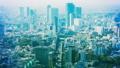 東京・渋谷・タイムラプス・六本木方面から望む・カラーグレーディング 45205903