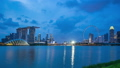 Singapore city skyline day to night time lapse 45258255