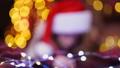 Funny girl in Santa hat writes letter to Santa 45278661