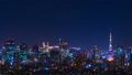 Tokyo night view, timelapse, Tokyo Sky Tree and Tokyo Tower simultaneously-Pan 45282504