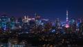东京夜景,游戏中时光倒流,东京天空树和东京铁塔同时向上倾斜 45282505