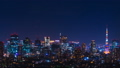 Tokyo Night View / Time-lapse / Tokyo Sky Tree and Tokyo Tower at the same time / Zoom out 45282509