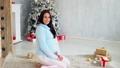 pregnant woman at Christmas Kiss at Christmas 45308845