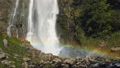 Waterfall scenic with rainbow. Slow Motion Footage 45348755
