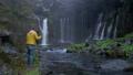 在Fujinomiya市拍攝Shiraito瀑布和瀑布的外國遊客 45413610