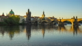 Prague city skyline timelapse in Prague, Czech 45505020