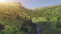 Aerial Drone Flight beautiful mountain landscape 45520610
