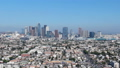Los Angeles downtown aerial view footage View from Koreatown 45674867