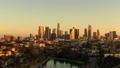 洛杉矶摩天大楼视图的空中图象从Ecopark 45675372