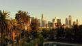 洛杉矶摩天大楼视图的空中图象从Ecopark 45675374