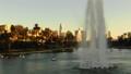 洛杉矶摩天大楼视图的空中图象从Ecopark 45675379