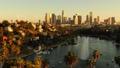 洛杉矶摩天大楼视图的空中图象从Ecopark 45675380