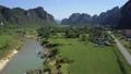 river aerial field 45697193